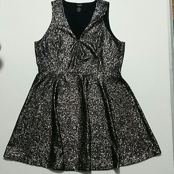 7c9b7743c6a Plus Size Rue 21 black dress with silver flecks